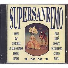 SUPERSANREMO 1991 MASINI RAF MIETTA TOZZI MINGHI BERTE' CD 1991 SIGILLATO SEALED