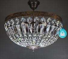 Plafonnier VIENNE Ancien 3 Lumières Ø40cm fabriqué avec SPECTRA CRISTAL de