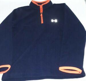Under Armour Boys Sweatshirt 1/4 Zip Pullover Midnight Navy Size 7 NWT