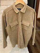 Genuine Somoma Jean Company Mens Tan Button  Up Fleece Jacket