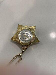 Beautiful Parker Pendant Wind Watch Star Shape, 17 Jewels Swiss Made,