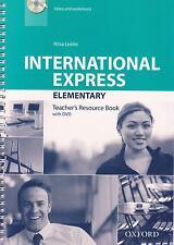 Oxford INTERNATIONAL EXPRESS 3rd Ed Elementary TEACHER'S Resource Book w DVD New