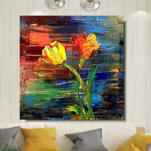 Abstract Flowers Street Art Printed Deep Framed Box Canvas. Various sizes