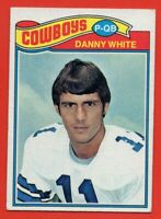 1977 Topps #284 Danny White EX-EX+ Rookie RC Dallas Cowboys FREE SHIPPING