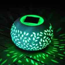 Pietra Ceramica Cambia Colore Luce a LED energia solare da giardino tavolo Lampada da esterno