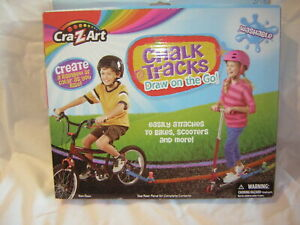 CHALK TRACKS ON THE GO BY CRA Z ART EASILY ATTACHES TO BOKES AND SCOOTERS BNFS