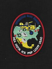 DEA HIDTA ICE PSP LCDTF USAO Operation Blue Baron Collectors POLICE PATCH