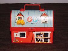 "Vintage 5"" L 3 5/8"" High 1962 Fisher Price Toys Mini Barn Farm Animals Lunchbox"
