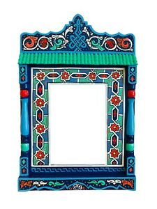 Paint furniture Morocco mirror Blue rustic Mirror decor, Hand painted, Vintage