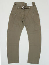 ETO 9901 mens size 27w short 27leg  curved leg tapered fit beige jeans (M4020)