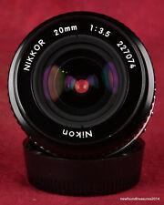 Nikon Nikkor AI-S 20mm f/3.5 Lens NICE!!