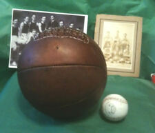1910 Antique style Laced Leather Basketball - Naismith Style Distressed Brown