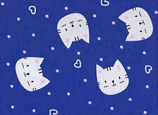 Blue Cats Flannelette