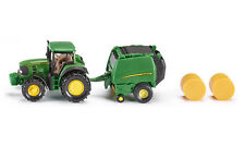 SIKU 1665 John Deere Tractor With Baler Green