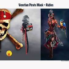 Venetian Pirate Lady Mask Adult Buccaneer Beauty Skull Masquerade Party Costume