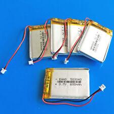 5 pcs 600mAh Li Po Battery 3.7V for Mp3 Gps Recorder 503040 Jst 1.25mm Connector
