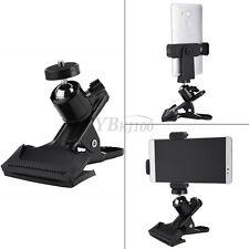 """Adjustable Metal Clip Clamp Holder Mount With Ball Head 1/4"""" Screw For Camera CL"""