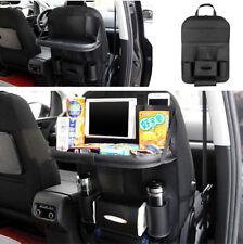 Schwarz Leder Autositz zurück Tasche Klapptisch Becherhalter iPad Telefon Halter
