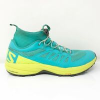 Salomon Womens Xa Enduro 392418 Blue Yellow Running Shoes Mid Top Size 8