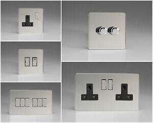 Varilight Screwless Polished Chrome Range - Black Inserts & Chrome Switches