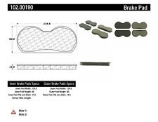 Disc Brake Pad Set-Disc Front Centric 102.00190