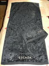 2 serviettes de toilettes «ESCADA» noire 48 x 95 cm