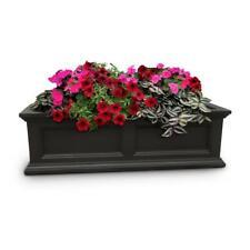 Window Flower Box Mayne Fairfield 11 x 36 in. Plastic Outdoor Garden Planter Box