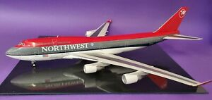 JFox Models 1:200 Boeing 747-400 Northwest N674US City of Shanghai (with stand)