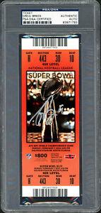 Drew Brees Autographed Signed Super Bowl XLIV Ticket Saints PSA/DNA #83971793