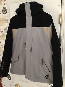 LIQUID Boardwear V.2500 3-in-1 Jacket - Men's Size S - Black/Grey