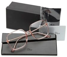 NEW Christian Dior Stellaire 01 35J PINK TRANSPARENT EYEGLASSES 57-17-145 Italy