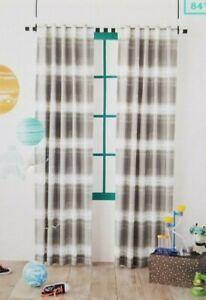 """2 Pillowfort Grey Dip-Dye Stripe Blackout Curtain Panels 42"""" W x 84"""" L NIP"""