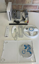 Nintendo Wii Console White - With Mario Kart Games - Working - GC - PAL