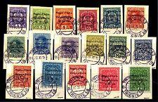 VENEZIA GIULIA - 1918 - Francobolli d'Austria del 1916/18 con sovr. titpografica