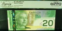 HIGH GRADE 2 DIGIT RADAR  5005005  BANK OF CANADA  2004 $20