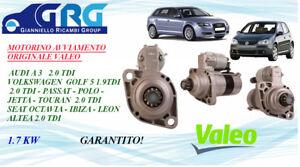 MOTORINO AVVIAMENTO VW GOLF V-G.PLUS 04-09-5M-SEAT AUDI A3 1.9 TDI/2.0 TDI VALEO