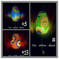 Turkish Lamp Mosaic Wholesale Price RAINDROP glass FREE LED Bulb