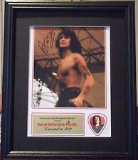 AC/DC Bon Scott Preprinted Autograph & Guitar Pick Display Mounted & Framed