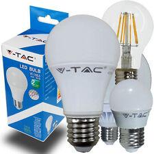 LAMPADINE LED V-TAC E27 DA 2W A 17W  LAMPADA MINI GLOBO FILAMENTO SFERA