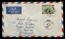DR WHO 1968 DOMINICA PENVILLE AIRMAIL TO MONTSERRAT  f51740
