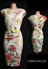 KAREN MILLEN Floral Wiggle Dress UK14 US10 EU42 Ocassion Cocktail Party Event