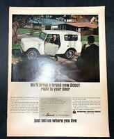 Life Magazine Ad INTERNATIONAL HARVESTER COMPANY SCOUT 1965 Ad