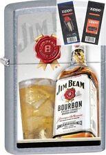 Zippo 29124 jim beam whiskey Lighter with *FLINT & WICK GIFT SET*