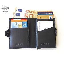Porta Carte Di Credito Slim Rfid Portafoglio Piccolo Uomo Verticale Portatessere