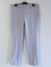 Fabiana Filippi Italy Sz 12 Lt Grey Cotton Blend Tapered Fit Cuffed Career Pants