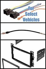 Double Din Dash Kit for After Market Radio Stereo Install Wire Harness Antenna