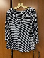 Womens Old Navy Navy Blue White Striped Tunic Shirt Top Blouse Size: XXL