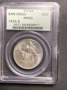 1935S San Diego 50c PCGS MS65 OGH *Beautiful & No Reserve!