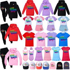 SPY NINJA CWC Tracksuit Kids Hoodie Youtuber Sweatshirt T shirt Top Swimwear Cap