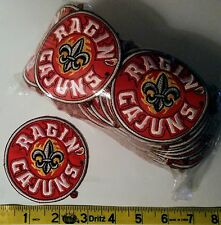 RAGIN CAJUNS Embroidered Iron-On Logo Patches Lot of 100 - New!